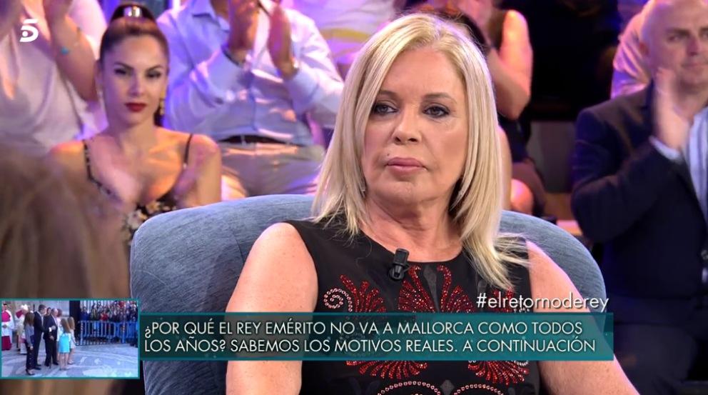 Barbara Rey habla de forma sutil sobre Juan Carlos I en 'Sálvame Deluxe'