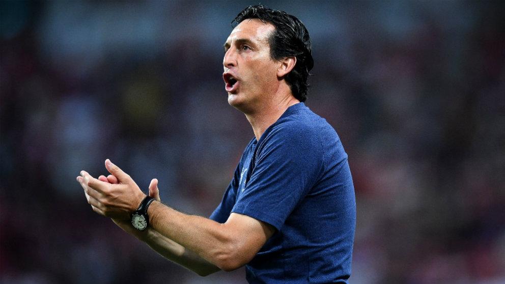 Emery durante el Arsenal-PSG de la International Champions Cup. (Getty)