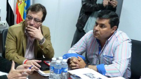 Guillermo Fernández-Vara y Francisco Capilla. (Foto: PSOE Extremadura)