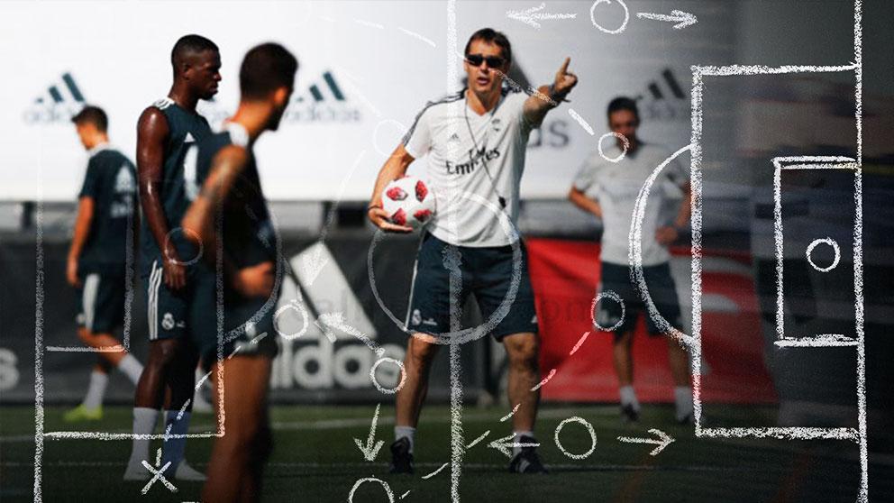 Las distintas variantes tácticas que maneja Julen Lopetegui para el Madrid.