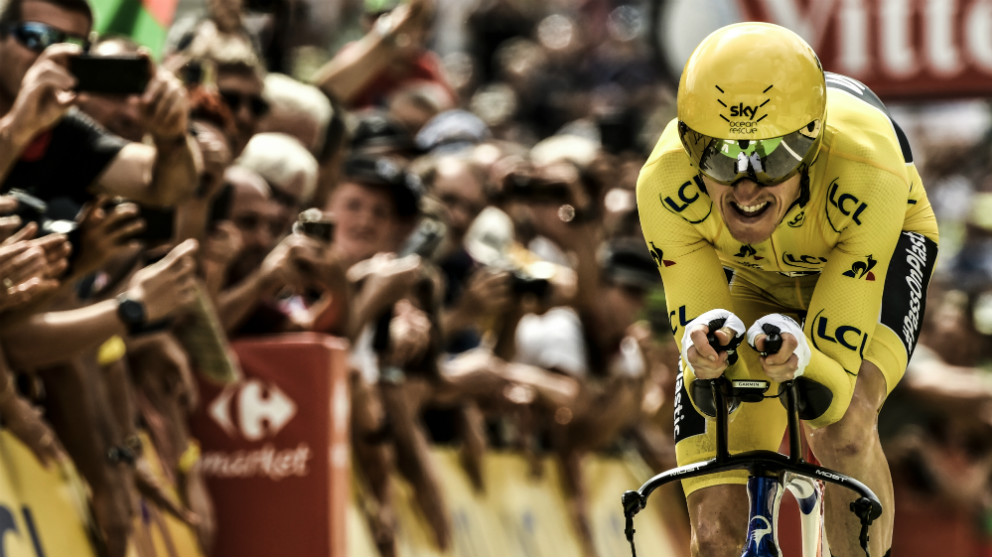 Geraint Thomas ya es el virtual ganador del Tour. (AFP)