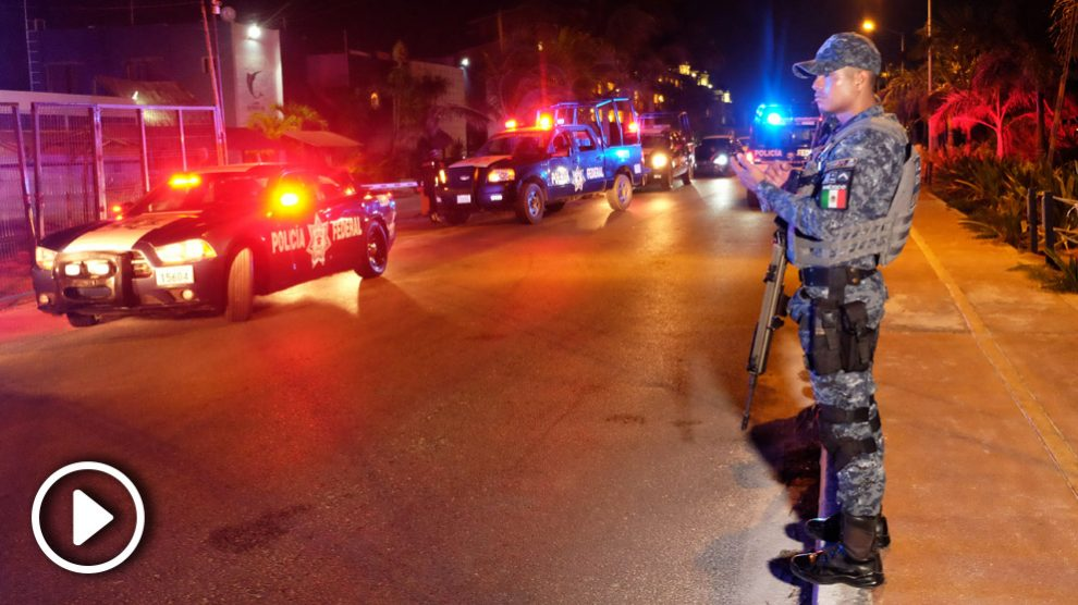 Tiroteo en Cancún. (Foto: AFP)