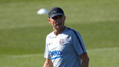 Valverde, dirigiendo un entrenamiento reciente (EFE).