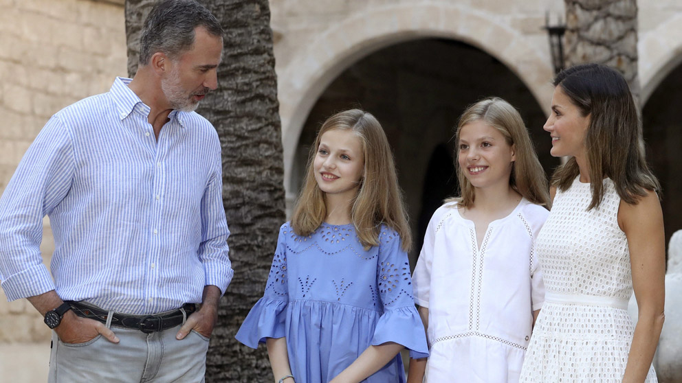 La Familia Real en la Almudaina (Foto: EFE)