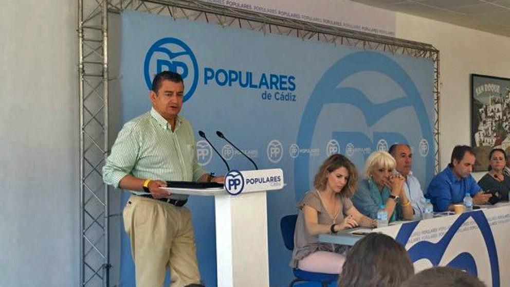 Antonio Sanz, senador y presidente del PP de Cádiz. (EP)