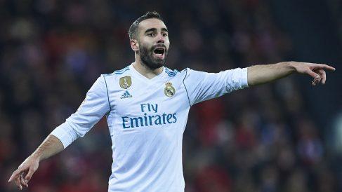 Dani Carvajal, durante un partido del Real Madrid la pasada temporada (Getty).