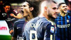 Icardi o Cavani, los nombres que baraja el Real Madrid para reforzar la delantera.