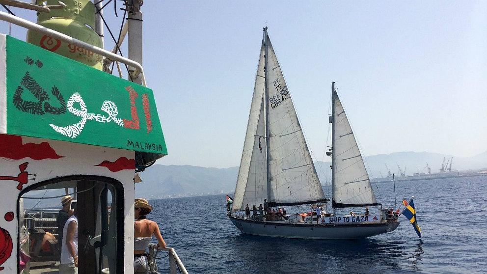 Barcos de la llamada 'flotilla de la libertad'. (Foto: Rumbo a Gaza)