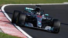 Hamilton, durante el GP de Hungría de Fórmula 1.