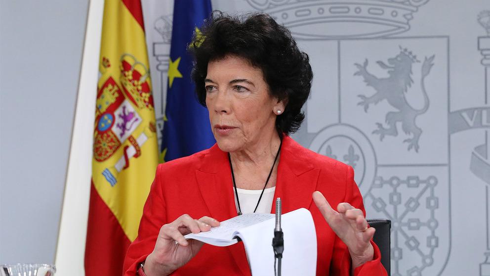 Isabel Celaá, ministra de Educación y portavoz del Gobierno. (EP)