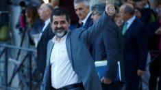 El golpista Jordi Sànchez, a su llegada a declarar al Supremo. (EP)