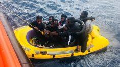 Inmigrantes rescatados en las costas españolas (Foto: Salvamento Marítimo)