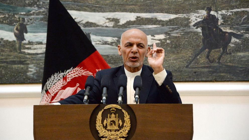 El presidente de Afganistán Ashraf Ghani en un reciente acto (Foto: AFP).