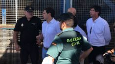 Albert Rivera en la valla fronteriza de Ceuta. (Ceuta TV)