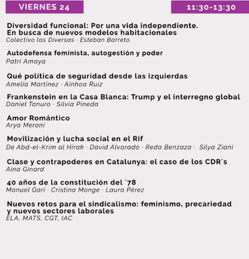Podemos monta una 'universidad anticapitalista' con taller de pancartas y cuentos feministas para niños