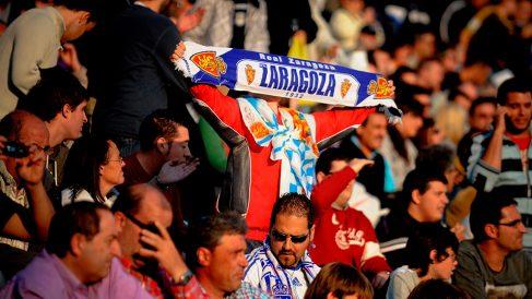 La afición del Zaragoza es líder en número de abonados de Segunda. (Getty)