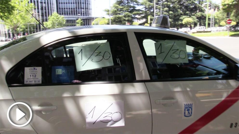 Así ha sido el boicot del taxi en Madrid