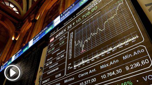 Pantallas de la Bolsa de Madrid. (Foto: EFE)