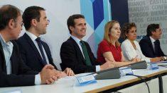 Pablo Casado en la Junta Directiva Regional del PP de Madrid. Foto: Europapress