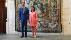 El Rey Felipe VI recibe en audiencia a Francina Armengol en Palma. (EP)