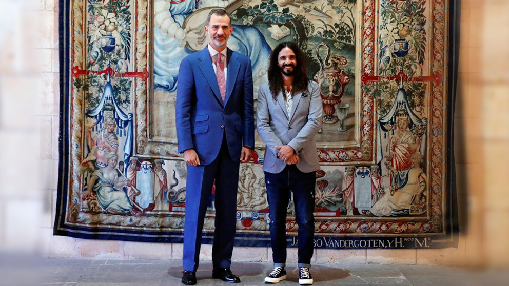 Baltasar Picornell, con el Rey Felipe VI.