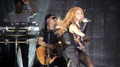 Shakira durante su actuación de este sábado en Barakaldo (Foto: EFE).