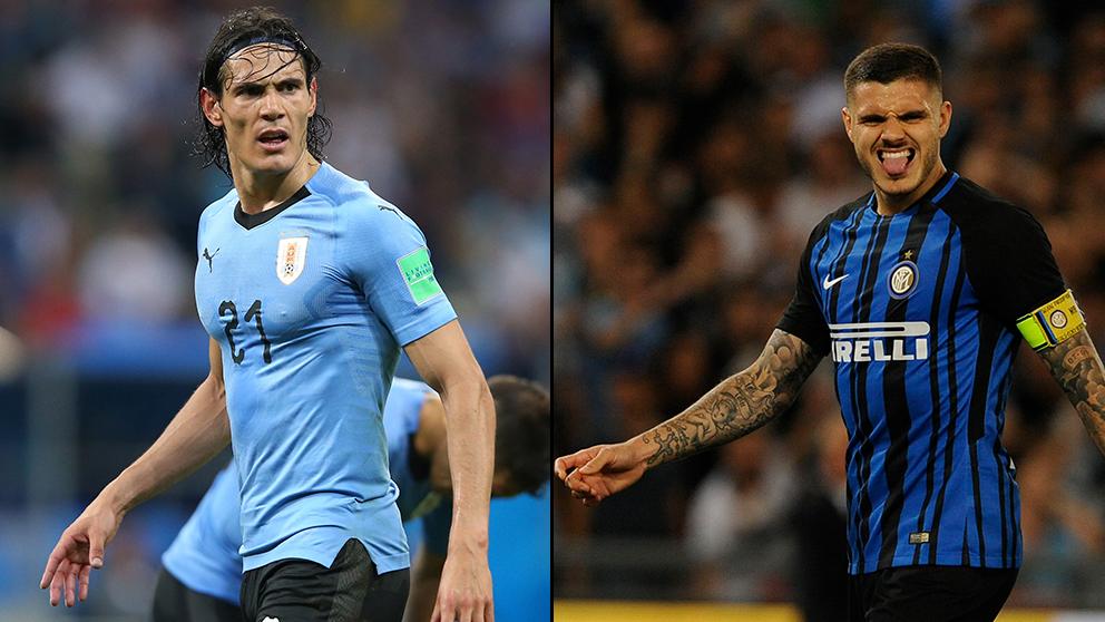 Edinson Cavani y Mauro Icardi, ¿quién es mejor? (Getty)