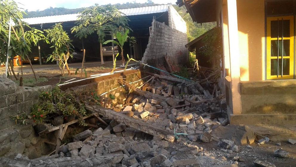 Terremoto en la isla indonesia de Lombok.