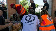 Concentración de taxistas (Foto: Efe)