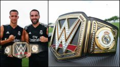 Triple H entregó a Carvajal y Lucas Vázquez el cinturón de campeones de la WWE.