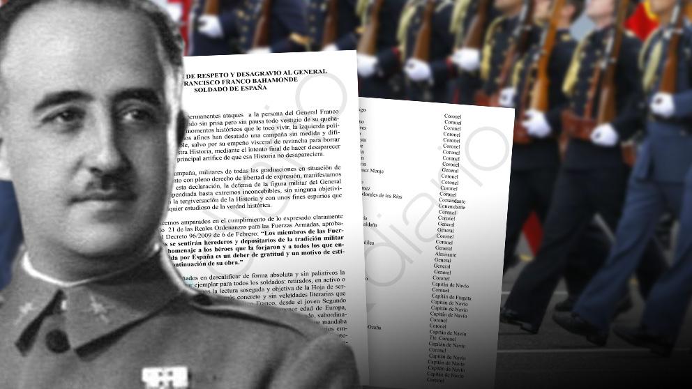 Manifiesto firmado por altos mandos del Ejército en la reserva y ex militares.