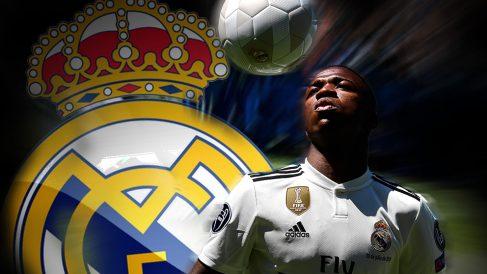 Vinicius, en su presentación con el Real Madrid.