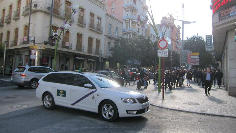 Huelga de taxis en Jaén (Foto: EP)