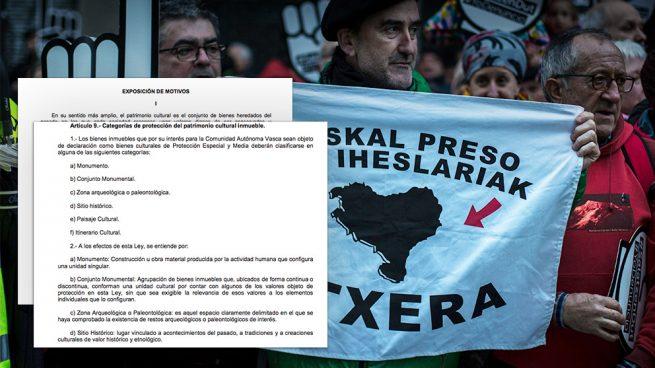 Una nueva ley vasca reconocerá como «sitios históricos» lugares vinculados a ETA