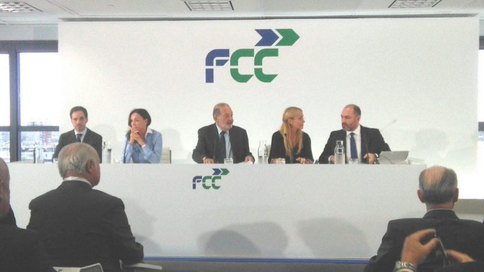 Carlos Slim y Esther Koplowitz en el Investors Day 2018 de FCC.