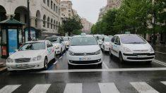 Huelga de taxis en Santander (Foto: EP)