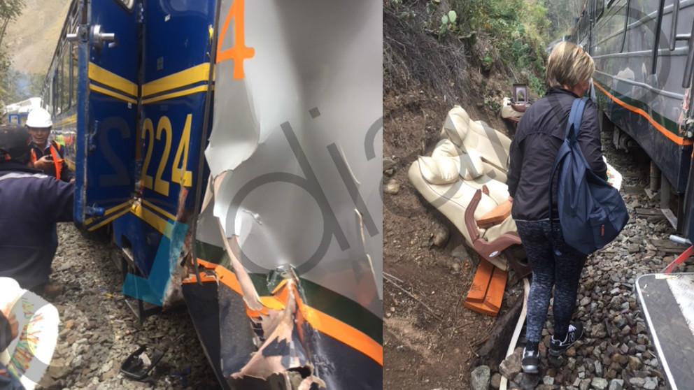Las fotos facilitadas a OKDIARIO por el matrimonio español afectado por el choque de dos trenes en dirección al Machu Picchu. Foto: OKD