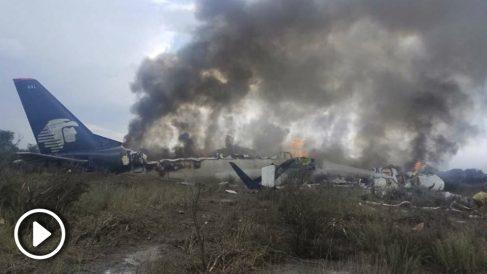 avion aeromexico accidente mexico