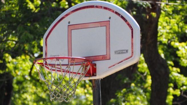 canasta de baloncesto casera