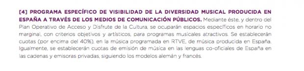 Podemos quiere obligar a las teles privadas a emitir música en catalán