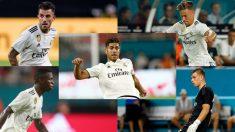 Asensio, Ceballos, Llorente, Vinicius y Lunin, cinco de los jugadores del Madrid llamados a liderar la próxima década.