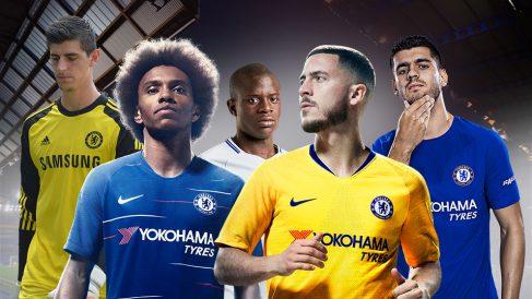 Courtois, William, Kanté, Hazard y Morata.