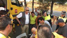 Efectivos de Emergencias-112 de Andalucía en el incendio de Moguer (Huelva). (Foto:112)