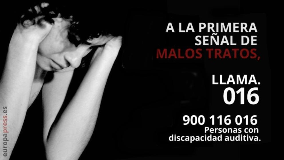 Teléfono contra la violencia de género.