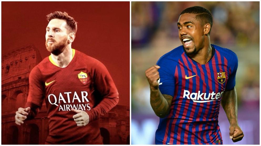 La Roma quiere a Messi tras el robo de Malcom.