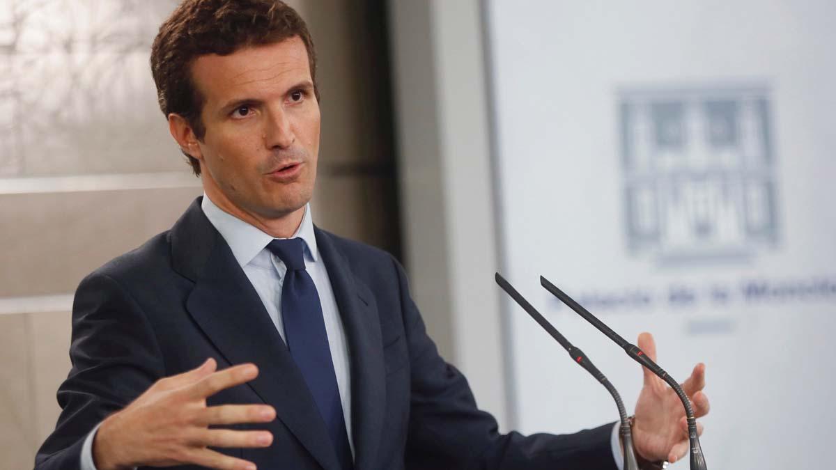 Pablo Casado, presidente del PP. Foto: EFE
