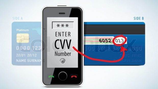 CVC en una tarjeta de crédito