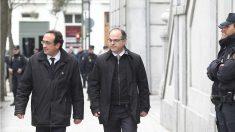 Los ex consellers Josep Rull y Jordi Turull camino del Tribunal Supremo. (EP)