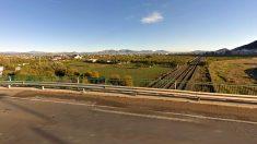 Las obras de la autovía del Reguerón se realizan junto a las vías del AVE en la pedanía de Torreagüera (Murcia).