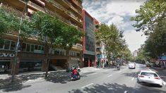 La calle Berlín de Barcelona, donde se produjo el suceso.